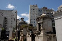 Recoleta cemetery merges imperceptibly with its neighborhood