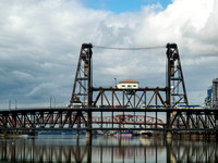 two streetcars midspan